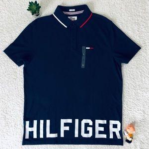 Tommy Hilfiger Denim Blue Polo Shirt Large New